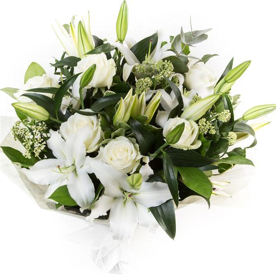 White Lilies & Roses
